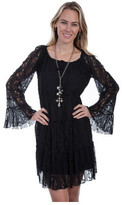 Scully Women's Lace Long Sleeve Dress HC81