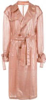 Ashish sequin trench coat