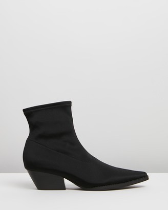 INTENTIONALLY BLANK Women's Black Heeled Boots - Adi - Size One Size, 7 at The Iconic