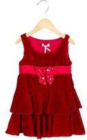 MonnaLisa Girls' Velvet Bow-Adorned Dress w/ Tags