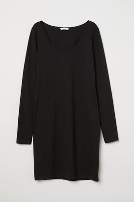 H&M Short Jersey Dress - Black