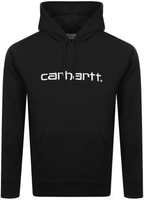 Carhartt Logo Hoodie Black