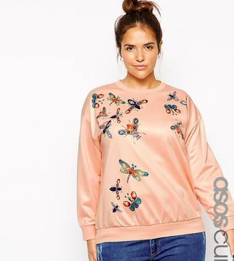 ASOS Exclusive Sweatshirt With Embellished Bug Print