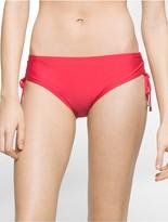 Calvin Klein Solid Side Tie Hipster Swim Bottoms