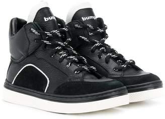 Bumper hi-top lace-up sneakers