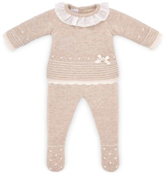 Paz Rodriguez Knitted Sweater and Trousers Set (1-12 Months)