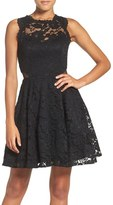 Xscape Evenings Women's Illusion Lace Fit & Flare Dress