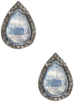 ADORNIA Moore Moonstone & Champagne Diamond Earrings