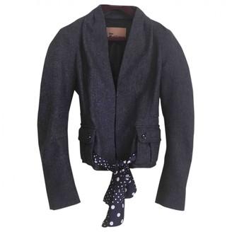 Galliano Navy Tweed Coat for Women