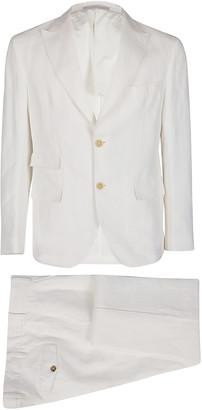 Eleventy White Linen-cotton Blend Two-piece Suit