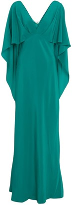 Diane von Furstenberg Alberta caped crepe maxi dress