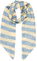 Allude Bicolor Striped Scarf