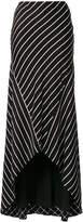 Haider Ackermann Biais striped maxi skirt