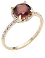Rina Limor Fine Jewelry Garnet Halo Ring