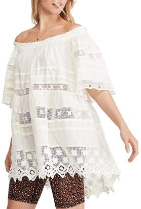 Free People Sounds Of Summer Crochet-Inset Tunic