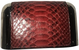 Michael Kors Red Python Clutch bags