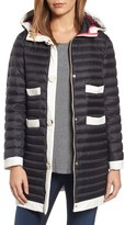 Kate Spade Women's Contrast Trim Hooded Puffer Coat