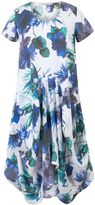 House of Fraser Chesca Plus Size Ruched Hem Floral Linen Dress