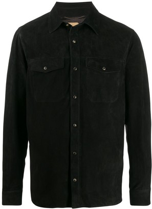 Ajmone Fitted Leather Shirt