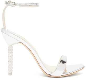 Sophia Webster Haley Crystal-embellished Leather Sandals - Womens - Silver