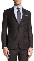 Ermenegildo Zegna Trofeo Wool Plaid Two-Piece Suit, Brown/Charcoal