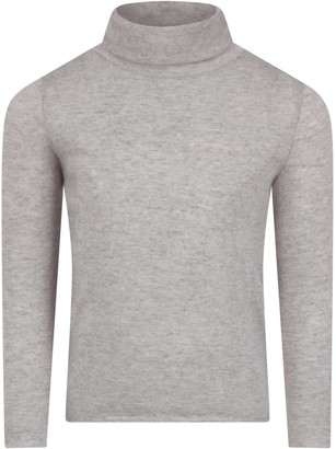 Douuod Grey Turtleneck For Kids With Logo
