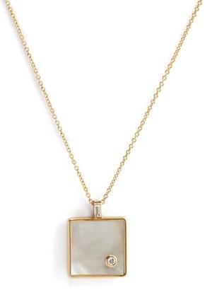Retrouvaí Min Mop Optimism 14kt Gold Pendant - Pearl