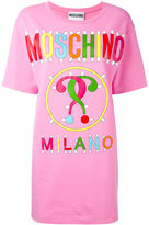 Moschino logo slogan T-shirt dress - women - Cotton/other fibers - 42