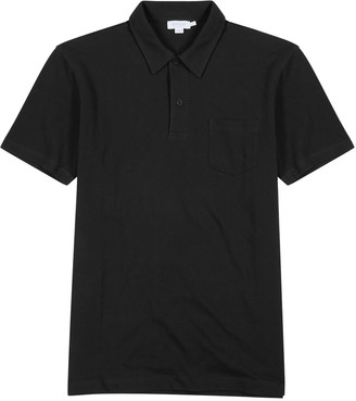 Sunspel Riviera Pique Cotton Polo Shirt