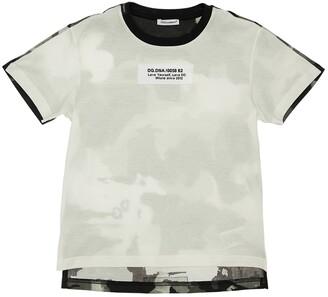 Dolce & Gabbana Color Block Cotton Jersey T-Shirt