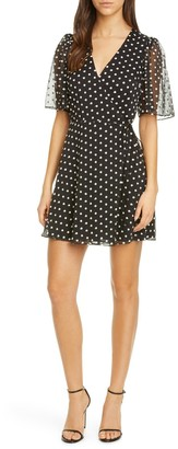 Alice + Olivia Sandra Angel Slv Wrap Dress