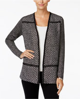 Charter Club Petite Tweed Open-Front Cardigan, Only at Macy's