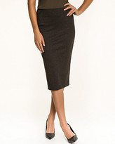 Le Château Check Print Ponte High Waist Skirt