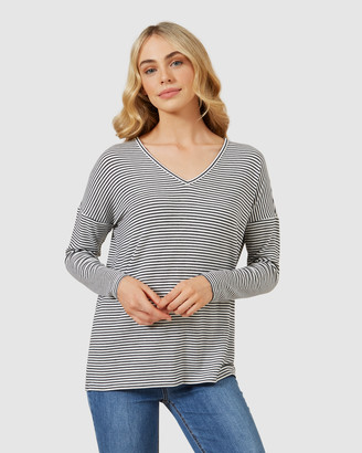 French Connection Soft V Neck Long Sleeve