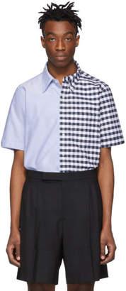 Thom Browne Navy Oxford Gingham Shirt