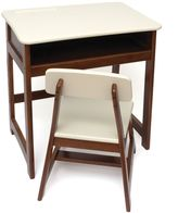 Lipper KIDS Desk and Chair Set in Cherry/White