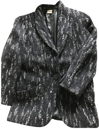 Krizia Black Wool Jacket for Women Vintage