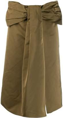 Rochas bow waist skirt
