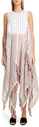 J.W.Anderson Multicolor Stripe Bib Dress