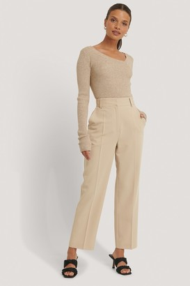 NA-KD High Rise Cropped Suit Pants