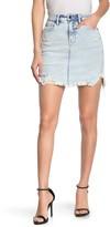 Good American The Bombshell Ripped Denim Skirt (Regular & Plus Size)