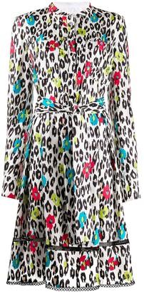 Talbot Runhof Toria leopard-print silk dress