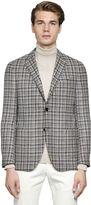 Lardini Textured Wool & Cotton Blend Jacket
