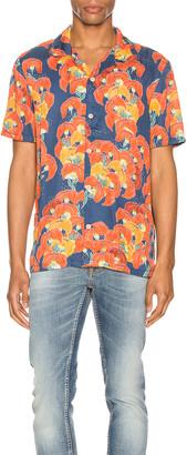 Nudie Jeans Arvid Flowers Short Sleeve Shirt in Multi   FWRD