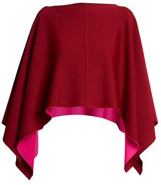 Valentino Contrast Jersey Poncho