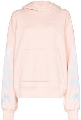 Amiri palm tree-print cottond hoodie