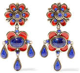 Etro Enameled Gold-tone Earrings