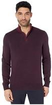 Perry Ellis 1/4 Zip Long Sleeve Sweater (Fig) Men's Clothing