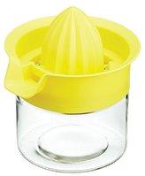 Kitchen Craft Lemon Squeezer / Citrus Juicer with Jumbo Glass Container, 450 ml (16 fl oz)