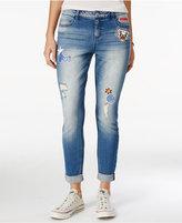 Vanilla Star Juniors' Patch Ripped Skinny Jeans
